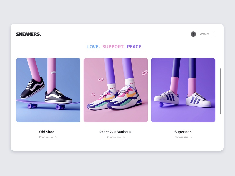 3D — Design Shoes for Commercial Characters c4d blender3d blender minimalism character app interface web illustration design ux ui