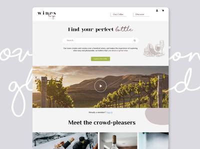 Wines to go desktop design winery typography ux design ui  ux ui design graphic design mockup homepage website wine