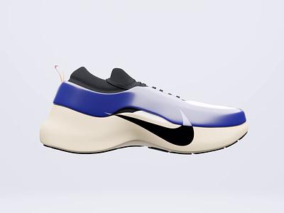 Meza Luna 🌖 sneaker fashion clothing realistic runner shoe design product design 3d art nike shoes nike branding vector design blender animation 3d