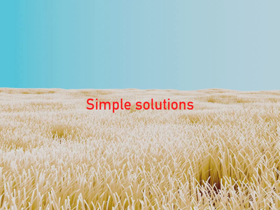 Simple solutions 🌾✨ uxdesign ui simple pure earth geometric world graphic plant grass typography flower animated gif icon branding bloom design blender animation 3d