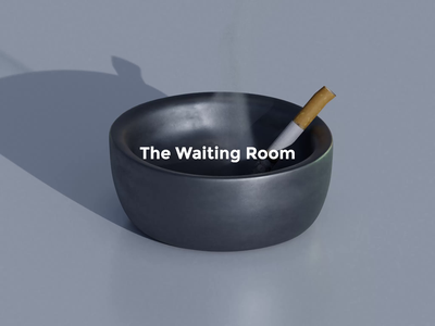 The Waiting Room loop covi quarantine websites webdesign designs waiting room smoke cigars cigarettes typography ui ux logo animated gif design branding blender animation 3d