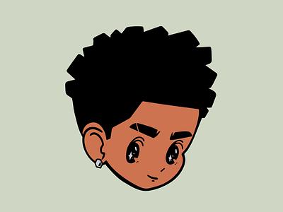 Kid stars gif spin faces head anime cartoon steven universe face kid app vector illustration loop icon ui logo animation blender 3d