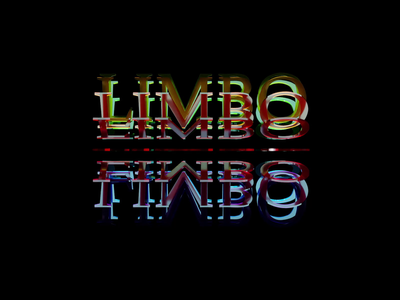 Limbo website web app icon minimal loop logo branding typography animated gif ui ux animation design 3d
