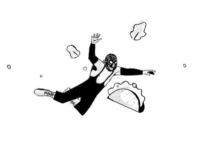 Falling Luchador