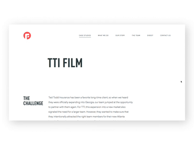 Production Portfolio color type portfolio production focuslab design film tti