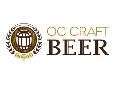 OC Craft Beer design graphic design type typography branding identity lettering logo illustration mark vector art icon