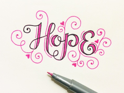 Hope design lettering handlettering handdrawntype typography type art doodling drawing sketching sketch