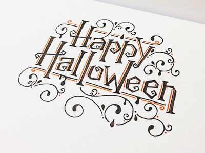Happy Halloween design lettering handlettering typography type art doodling drawing sketching sketch