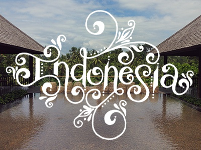 Indonesia design lettering handlettering typography type travel art doodling drawing sketching sketch