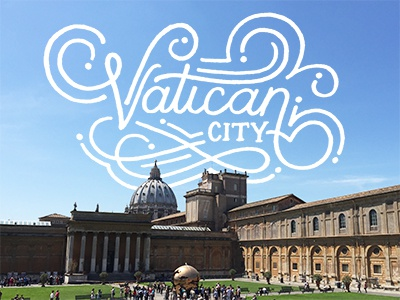 Vatican City sketch sketching drawing doodling art travel type typography handlettering lettering design
