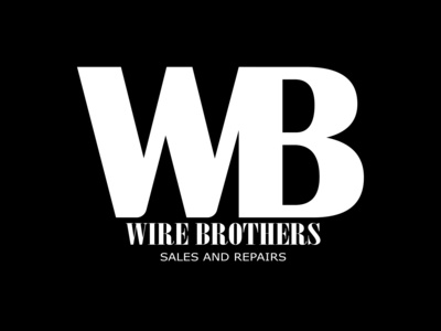 Wire Brothers Logo Design monochromatic grayscale electric logos sales repair logotype logo photoshop illustrator icon app web ui ux illustration design branding