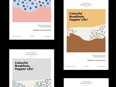 Rainbow Breakfasts - Poster Design breakfast granola homemade poster design typography logodesign brand identity visual identity art direction identity design brand branding brand design design