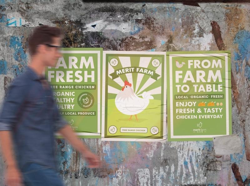 Merit Farm - Posters Design marketing farm poster art graphic design poster poster design brand identity logodesign visual identity art direction logo identity design brand branding brand design design