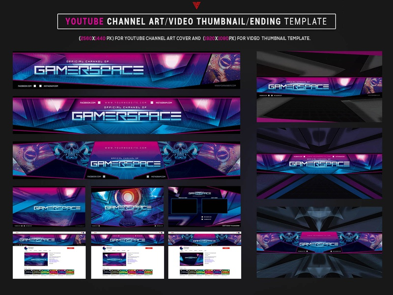 Esports Gamer Space - Youtube Channel Art Photoshop Template gamergirl spaced alpha youtube template retro aesthetic futuristic youtuber gamer logo youtube channel youtube banner youtube gaming gamer space album artwork cyberpunk photoshop template graphicdesign