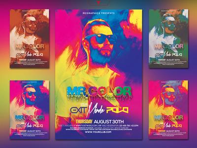 Mr. Color Flyer Photoshop Poster Template
