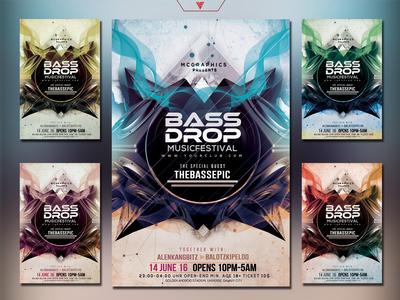Bass Drop Music Festival Flyer Template