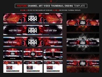 Youtube Channel Art Video Thumbnail and Ending Video Template