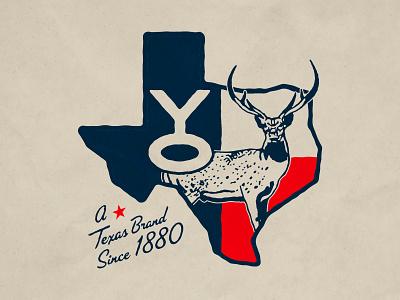 YO Ranch Merch Design hunting vector deer axis hunting ranch texas austin logo identity branding