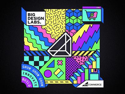 Big Design Labs - Hoodie Print hiring grow innovate build shop online shop saas colorful bright floppy disk ecommerce austin bigcommerce