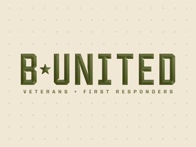 BUnited - Employee Resource Group bigcommerce air force navy marines army firefighters fire department ems police first responders veteran military austin logo brand identity branding