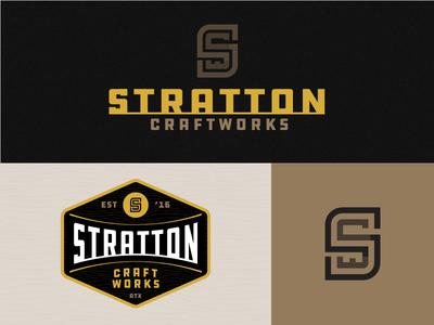 Stratton Craftworks identity logo branding stratton craftworks custom furniture
