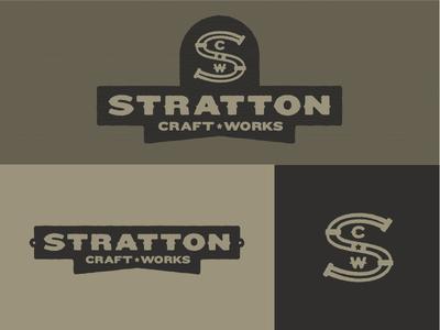 Stratton Craftworks austin identity logo branding stratton craftworks custom furniture
