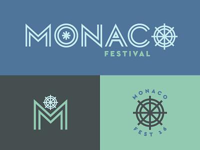 Monaco Festival festival logo nonprofit brand identity branding