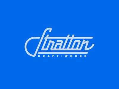 Stratton Craftworks type hand lettering branding