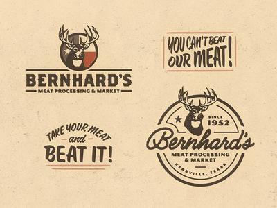 Bernhard's Meat tshirt meat processing texas deer branding