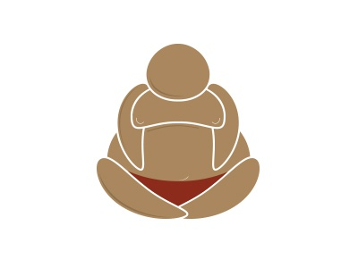 Budddha in Color buddha zen brown red logo