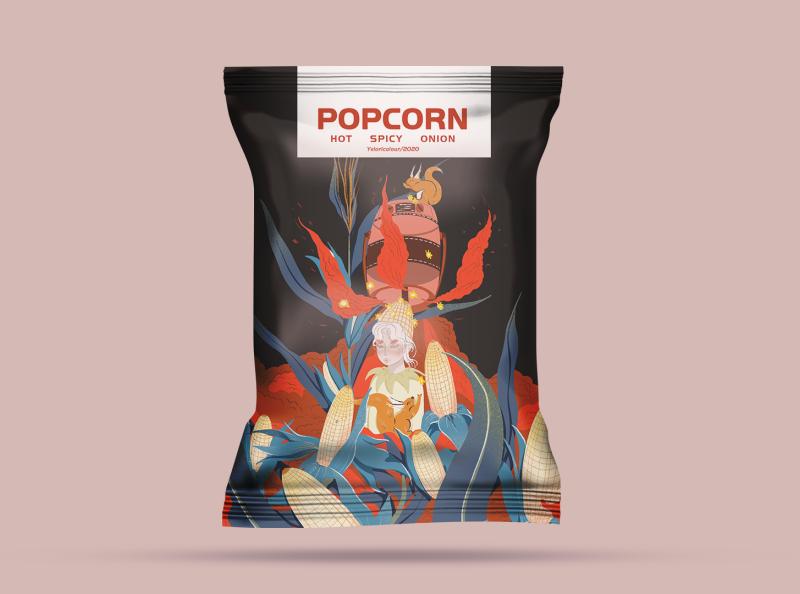 packaging design flat illustration design