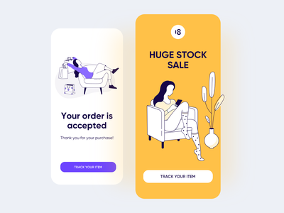 Marketplace Illustrations ui app interface art character vector uikit illustration uidesign design 18design