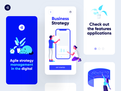 ATOM: Illustrations blue colorful application bussiness bussines strategy chart product design interface character ui uidesign app illustration minimalism ui minimalism clean design clean ui clean 18design