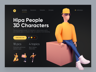 Hipa People 🔥 delivery clean design minimalistic minimalist minimal 3d people 3d characters 3d character 3dcharacter 3d vector character interface illustration uidesign clean ui clean ui minimalism 18design