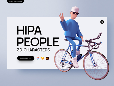 Hipa People 🔥 minimalistic minimalist minimal 3d illustrations 3d illustration 3d people 3d character 3d modeling 3d art 3d vector character interface illustration uidesign clean ui clean ui minimalism 18design