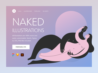 Naked Illustrations girl trend colors colorful love illustrations couple illustration sex love couple nude naked character design illustration uidesign clean ui clean ui minimalism 18design