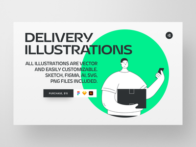 Delivery Illustrations purchase download trend hero characters colorful colors courier illustration courier delivery service delivery illustration delivery app delivery illustration uidesign clean ui clean ui minimalism 18design