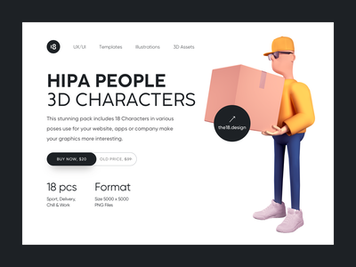 Hipa People 🔥 3D Characters 3d illustration trendy typography colors colorful delivery service delivery illustration delivery 3d delivery 3d courier 3d people 3d characters 3d illustration uidesign ui clean clean ui minimalism 18design