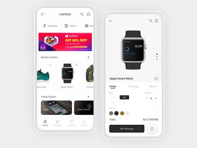 Lazada Redesign Unofficial shopping ecommerce shop figma uiux ui app ecommerce lazada
