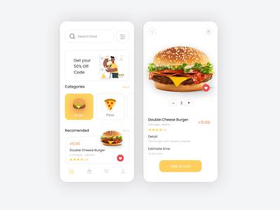 Food Order Design website design website concept webdesign website uiux ux ui mockup mobile design mobile ui mobile app mobile