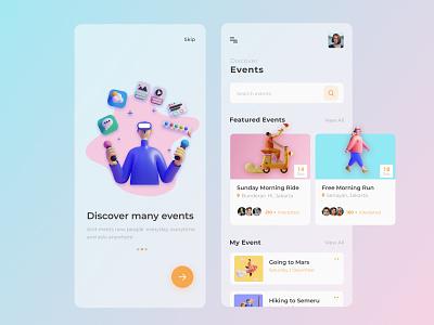 Event Finder Design app mobile app mobile design ui website web design website design website concept webdesigns webdesign figmadesign uiux adobexd ux