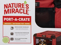 Nature's Miracle Port-A-Crate packaging