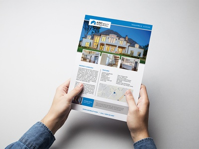 Arc Realty graphic design photoshop illustrator indesign typography color realty branding design