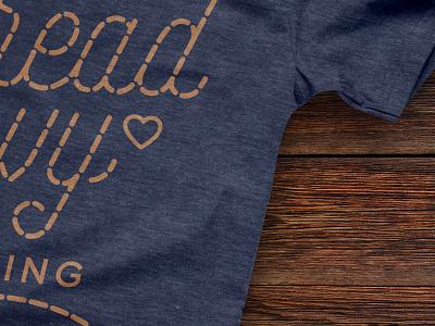 Tread Envy Quilting Tshirt color palette graphic design tshirt design vintage logo tshirt design