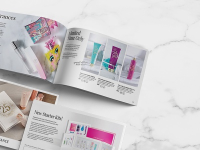 Pure Romance Catalog Redesign graphic design redesign photography catalog indesign adobe typography design