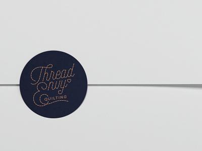 Thread Envy Quilting Sticker logo design graphic design sticker quilting logo type creative adobe illustrator typography design