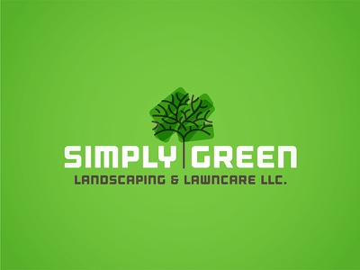 Simply Green Landscaping - Logo WIP vehicle wrap business card logo design graphic design icon typography green logo landscaping design