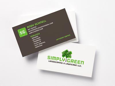 Simply Green Branding logo design business card graphic design green logo landscaping design branding