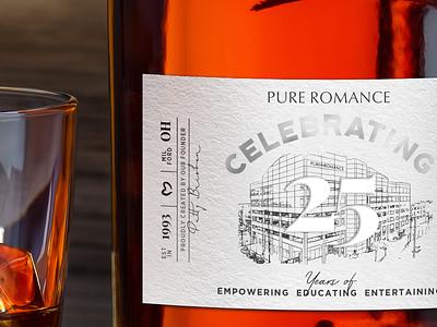 Commemorative Bourbon Label graphic design kentucky neenah label bourbon type creative adobe illustration typography design