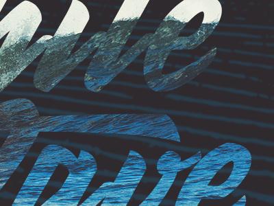 White Wave Surfing Co graphic design blue waves beach surfing logo type creative adobe illustrator typography design